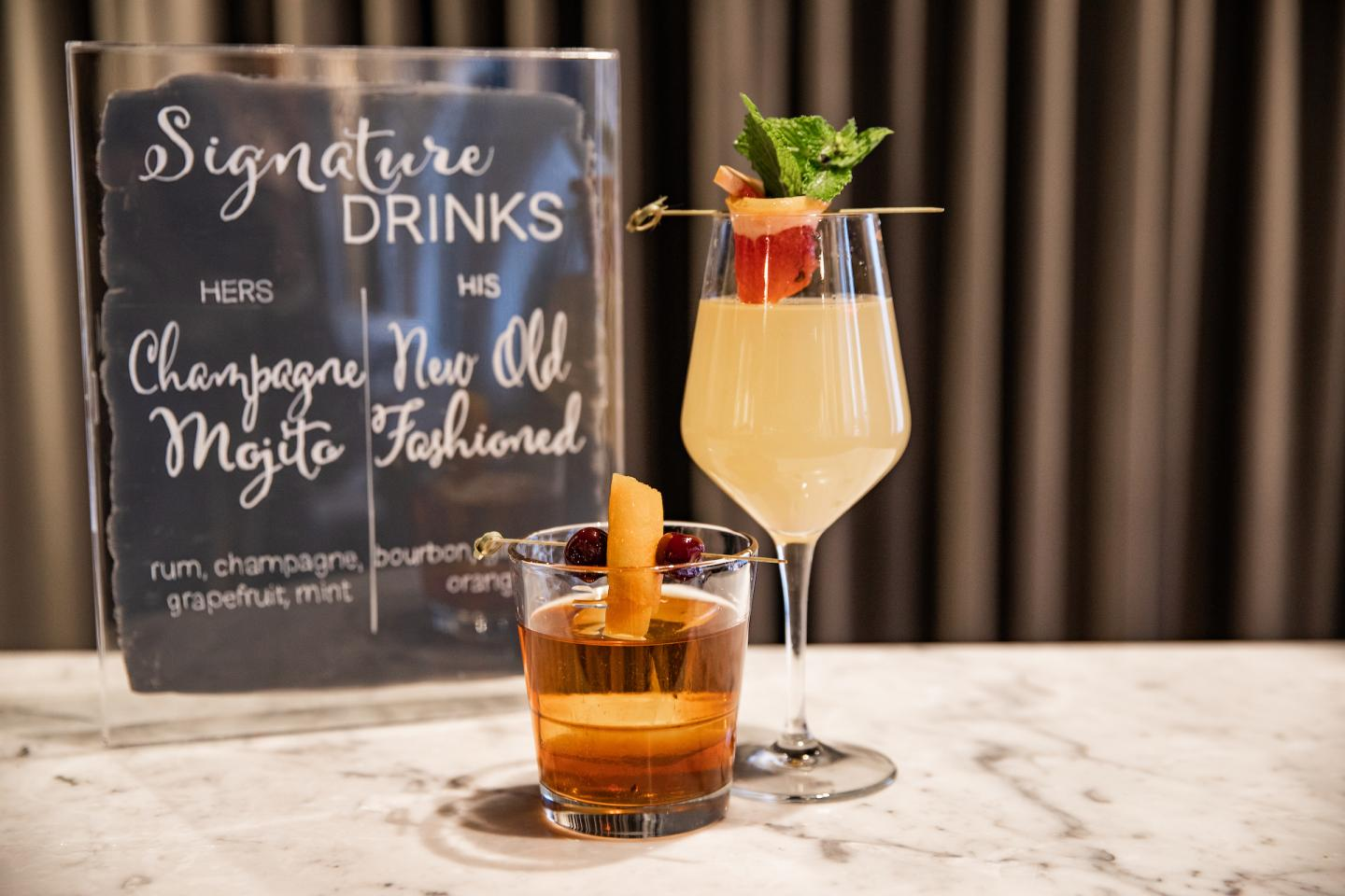 Signature cocktails at The Dalcy