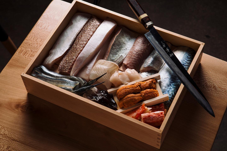 Sushi-San ingredients for omakase