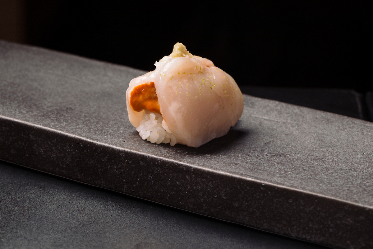 SCallop and uni nigiri