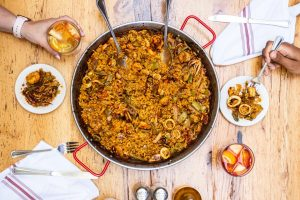 Paella dishes for two