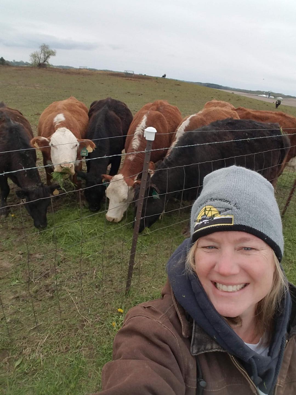 SArah Johnson on her farm