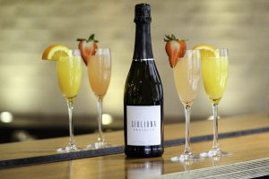 bellinis and mimosas at Hub 51
