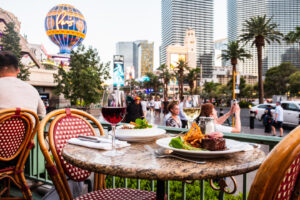 Outdoor Dining at Mon Ami Gabi Las Vegas