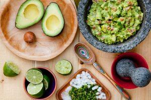 Guacamole fixins from El Segundo Sol on a table