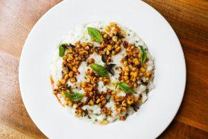 Corn risotto from ema