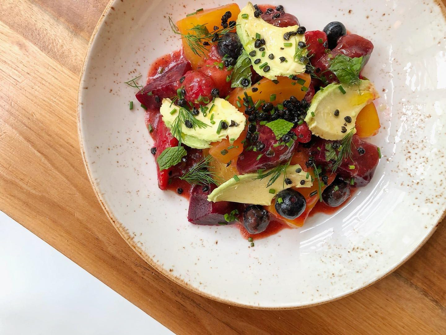 Beets and Berries at Ema