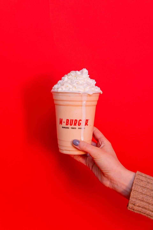 M Burger vanilla shake