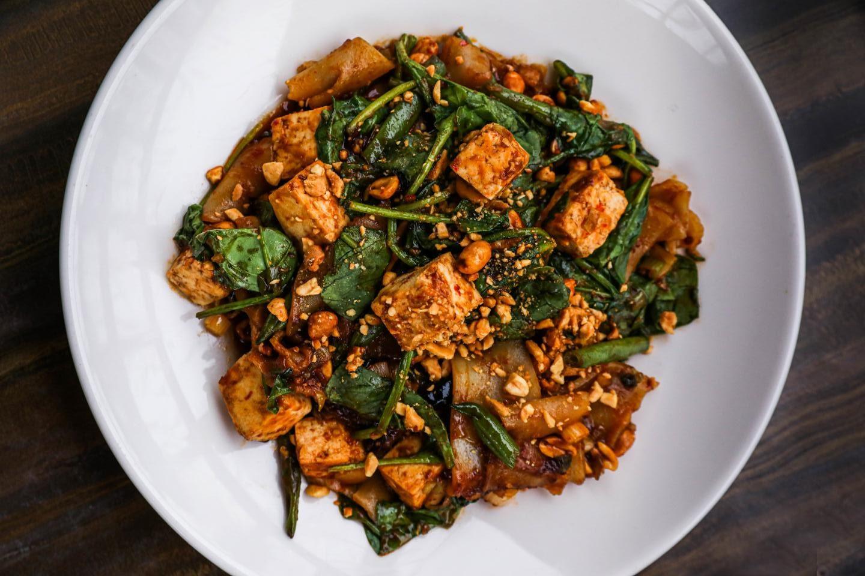 Big Bowl Kung Pao Tofu Noodles vegetable chinese vegetable thai