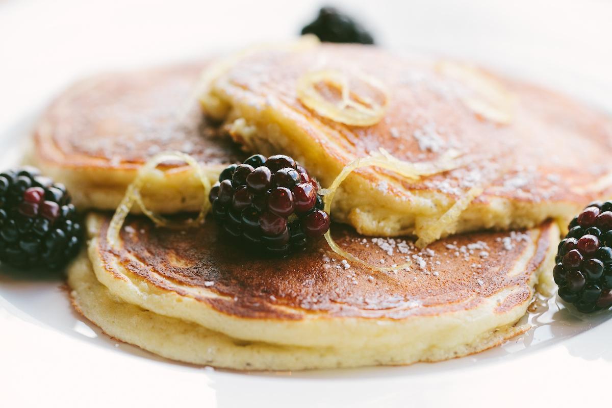 Beatrix Brunch- Light & Fluffy Lemon Pancakes