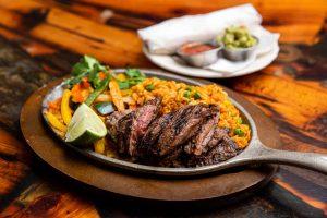 Steak Fajitas on RJ Grunts dinner menu