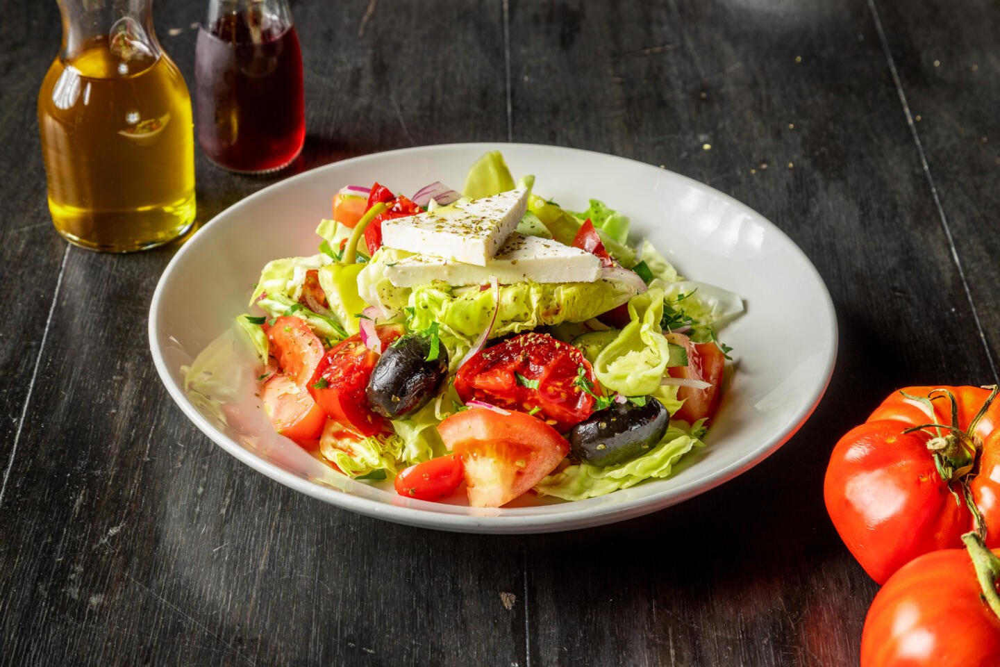 Gree Salad from B Square Pizza