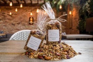 Granola on the table