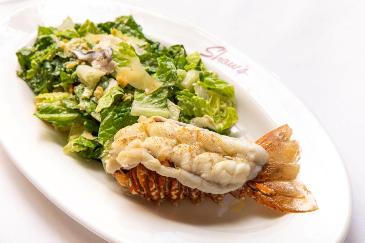 Shaw's salad with lobster tale