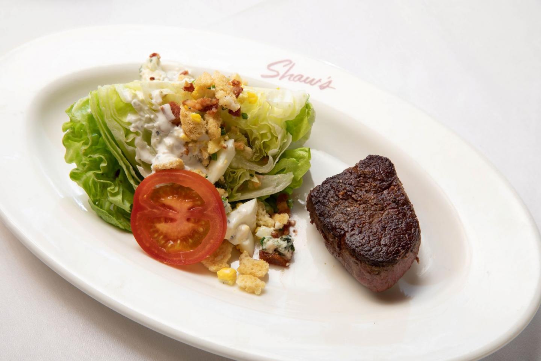 Shaws crab house salad with steak