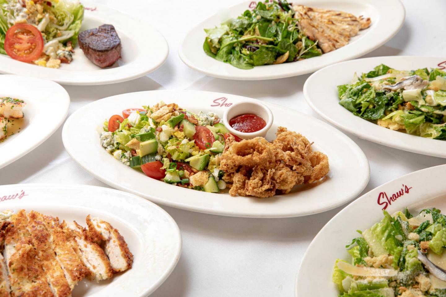 Shaw's Crabhouse salads and proteins