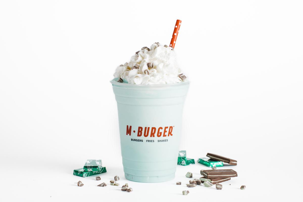 M Burger March Minty Leprechaun Milkshake