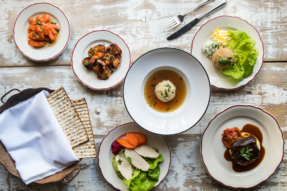 Passover dishes at osteria via stato