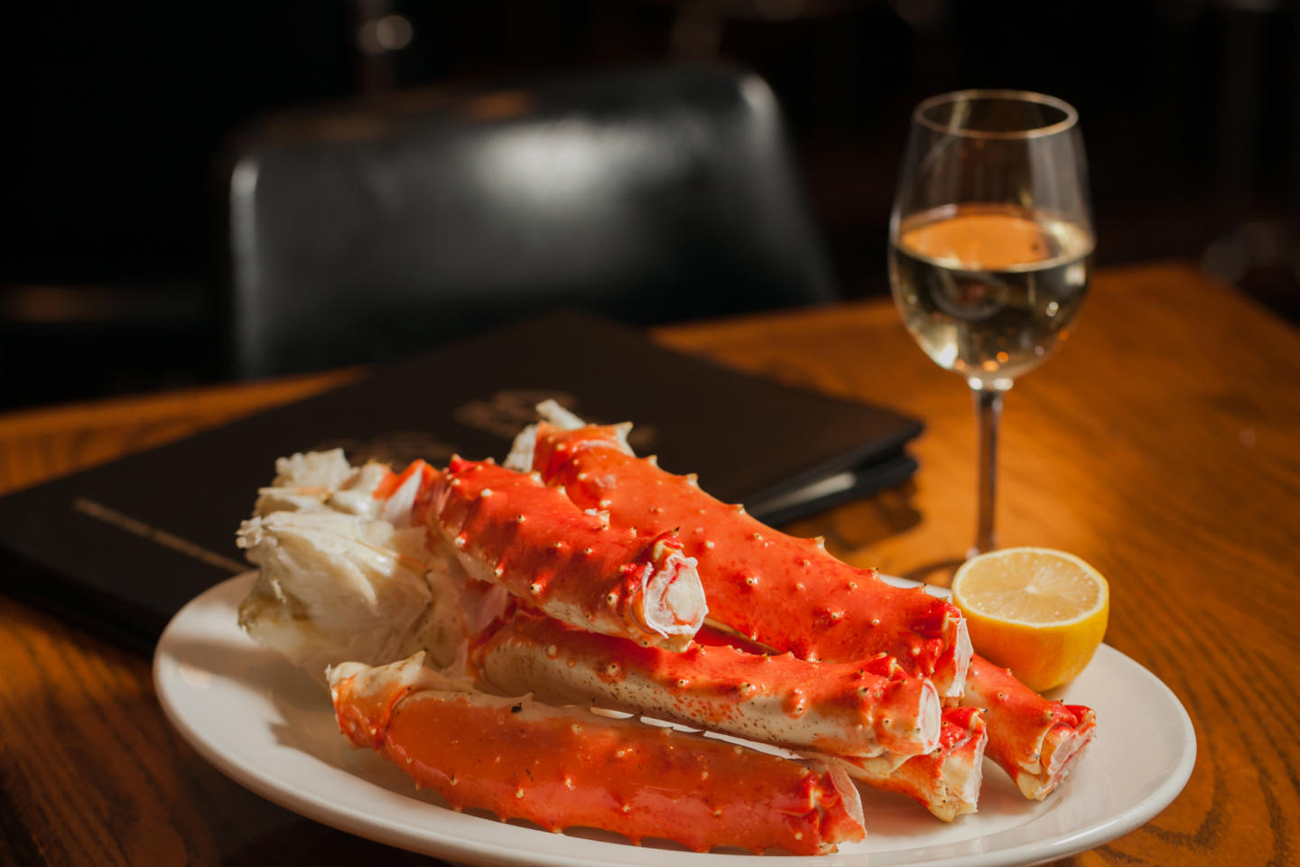 Crab Legs and Wine at Shaw's