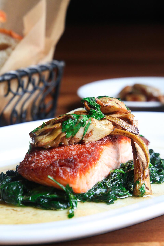 Osteria Salmon with artichoke