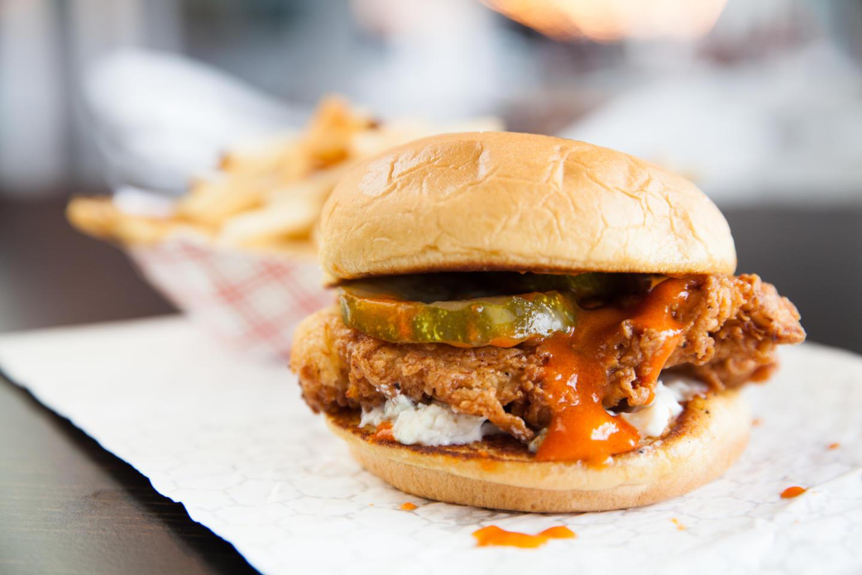 Big City Chicken hot spicy chicken sandwich