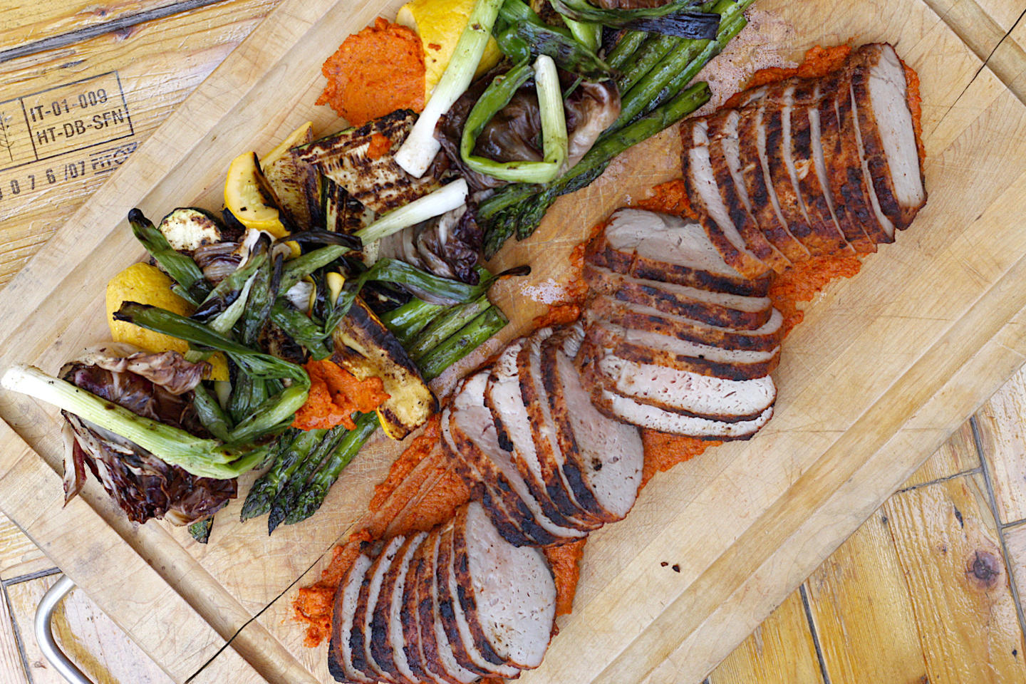 Grilled Pork Loin with vegetables