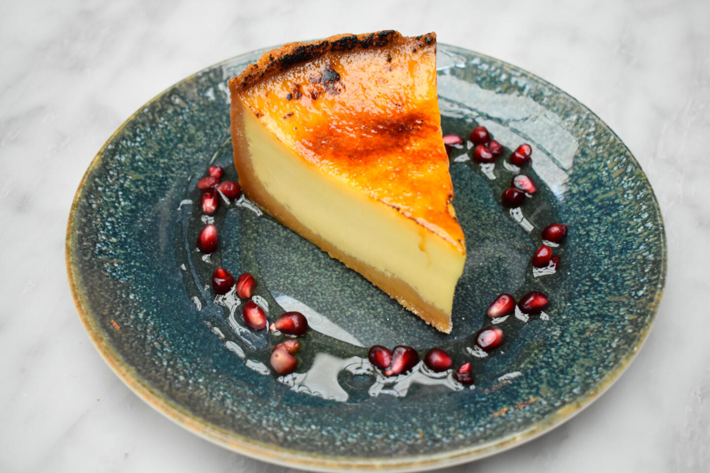 Aba Creme Brulee with Pomegranate