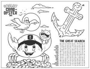 quality crab kids activity sheet