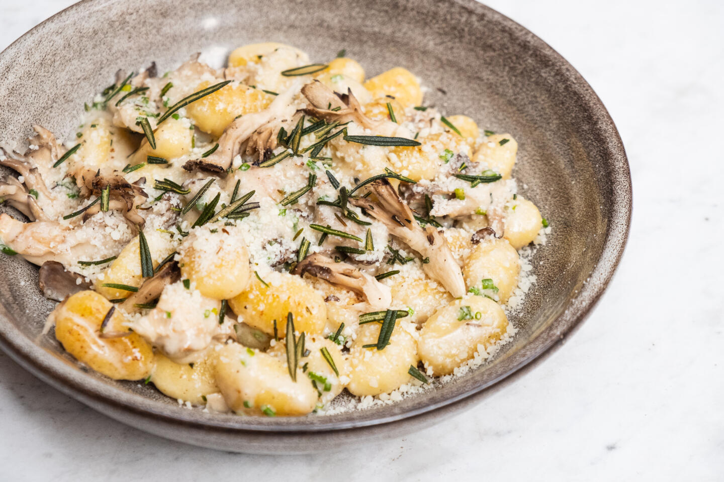 Potato Gnocchi from Summer houe with mushrooms