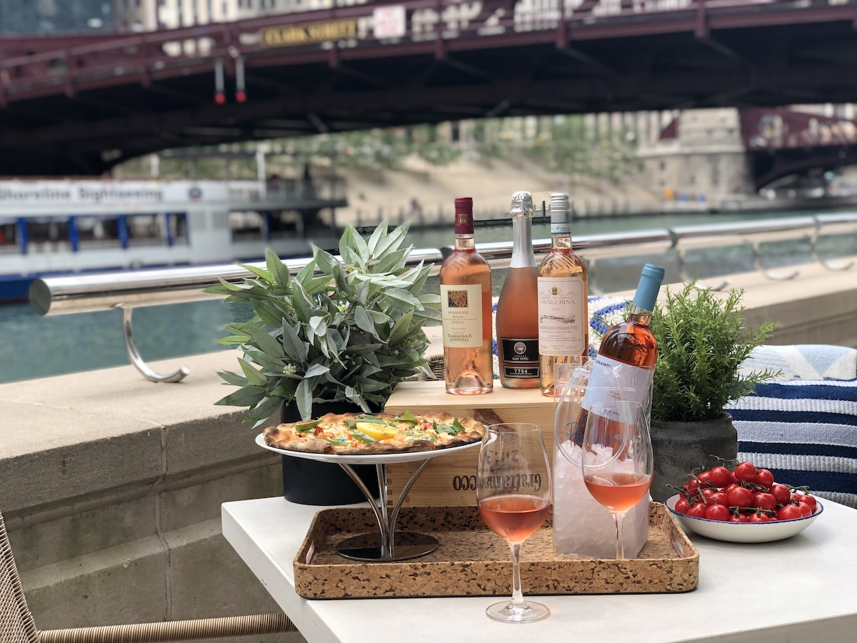 RPM Events Rose Wine Dinner on the Chicago Riverfront