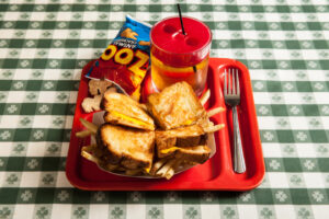 Grilled cheese kids meal at R.J. Grunts