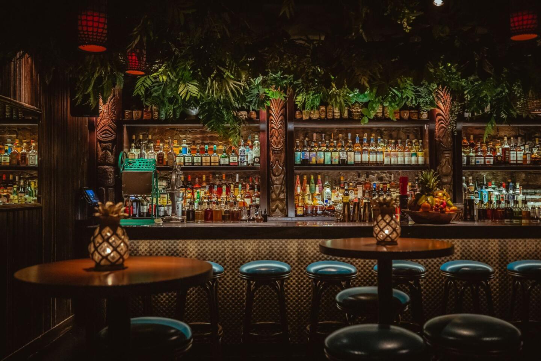 The Bamboo Room bar at Three Dots and a Dash