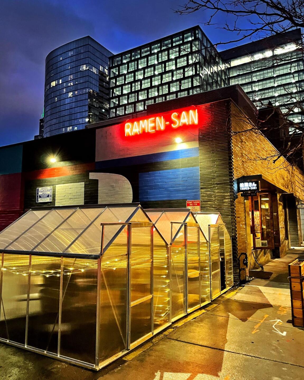 Ramen San Whisky Bar Igloo patio