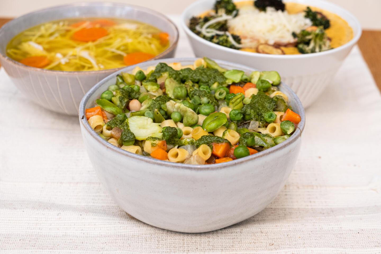 Coastal soups and salad