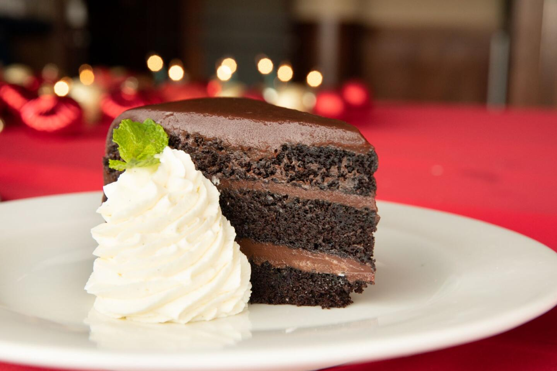 shaws chocolate cake slice