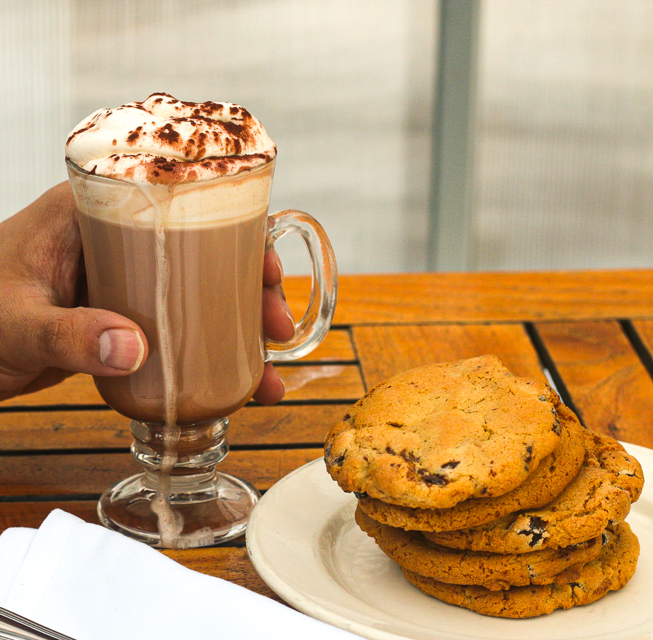 Osteria Via Stato hot chocolate and cookies