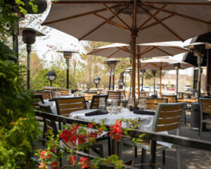 Patio seating at Wildfire Glenview