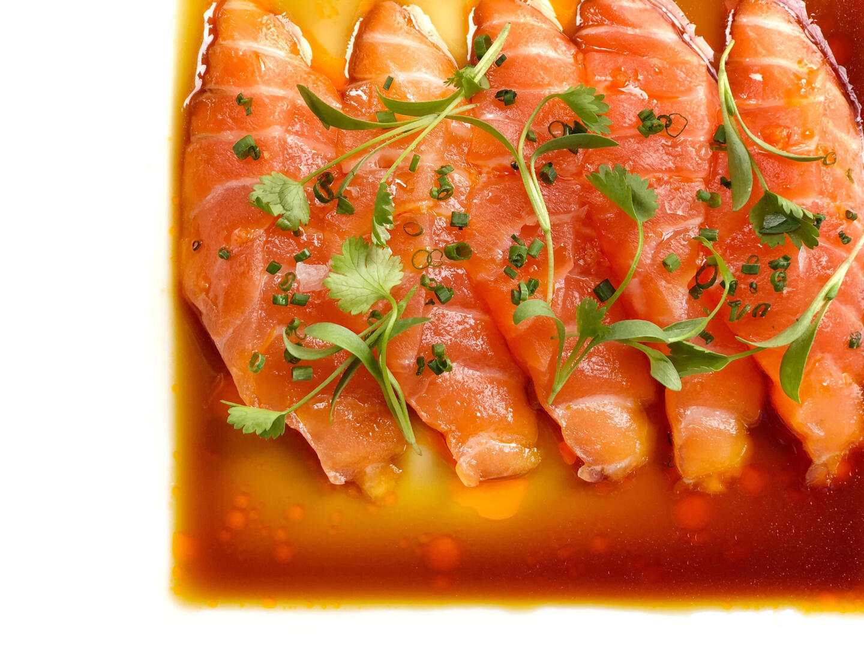 Naoki Smoked Salmon Sashimi