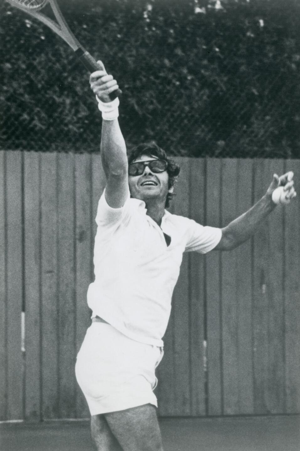 Jerry Orzoff Playing tennis