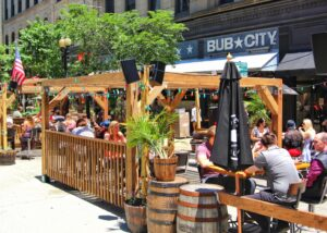 Patio at Bub City Chicago