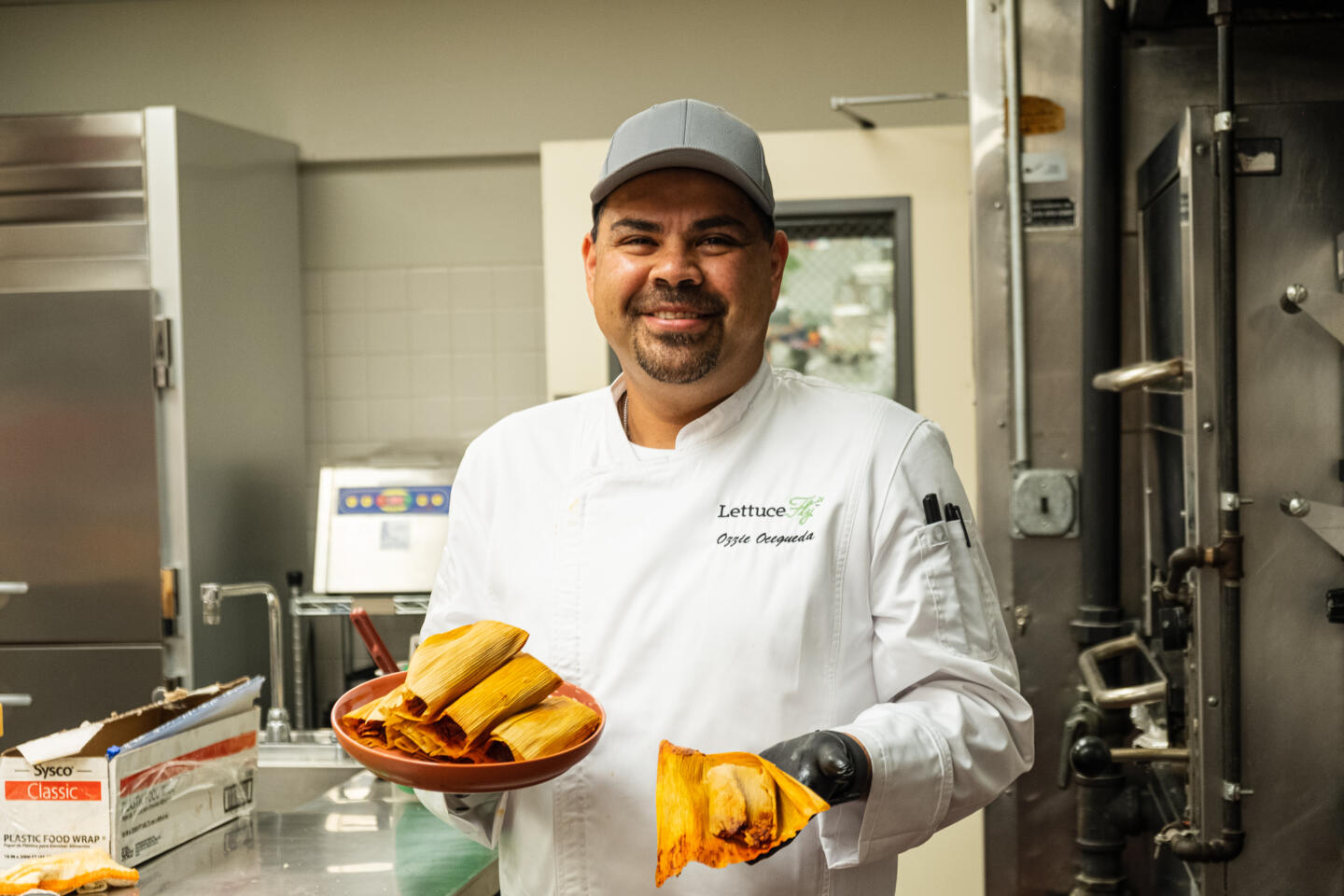 Chef Ozzie with Tamales