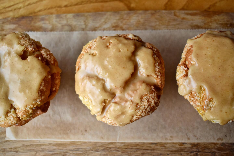 pumpkin angel food cake muffin beatrix