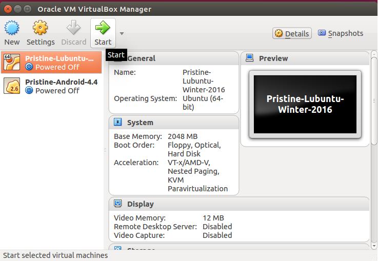 Starting Lubuntu