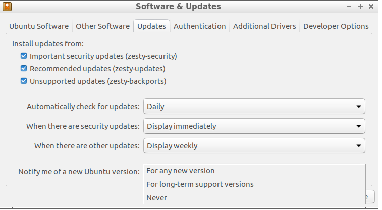 Upgrade Lubuntu Settings