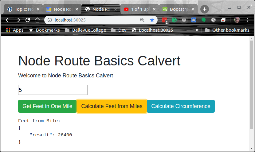 Node Route Basics Bootstrap