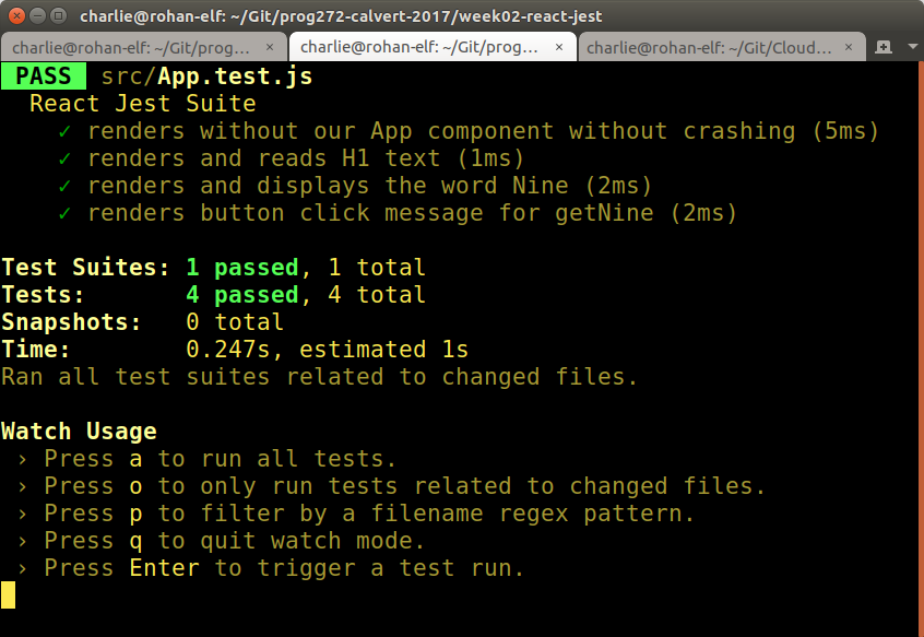 Running the tests