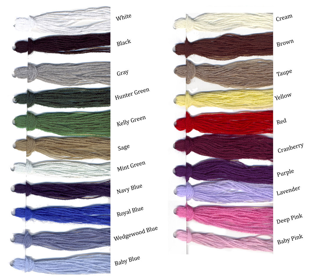 Baby Blanket Yarn Colors