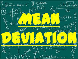 Mean devaition
