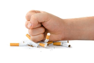A friendly reminder to stop smoking right now.