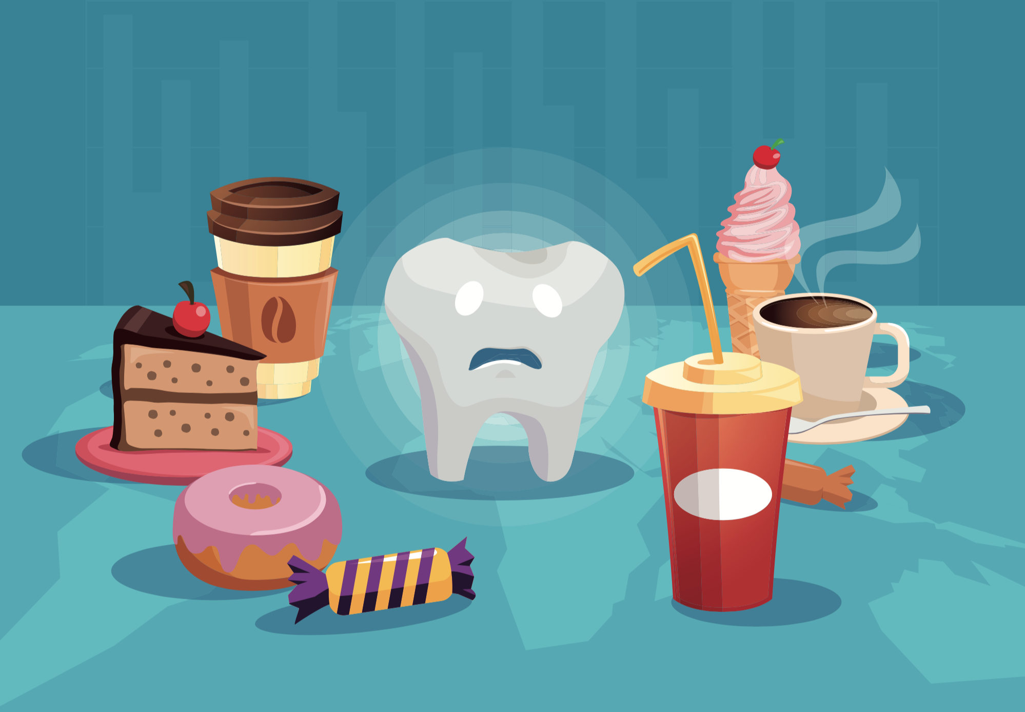 Foods that ruin your tooth enamel.