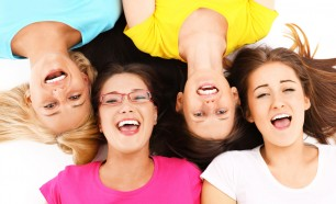 Group of girls smiling/laughing